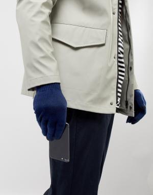 Темно-синие перчатки для сенсорных гаджетов ASOS DESIGN. Цвет: темно-синий
