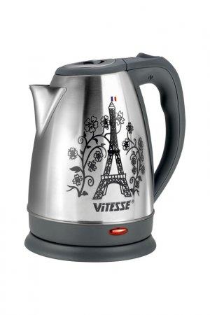 Чайник электрический 1,7л Vitesse. Цвет: серебряный, серый