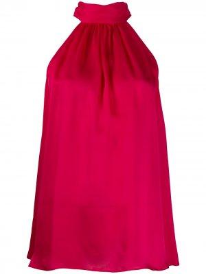 Блузка с воротником на завязках Zimmermann. Цвет: розовый