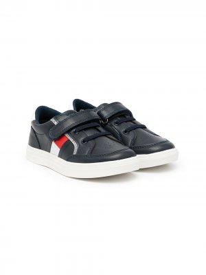 Кроссовки на липучках с логотипом Tommy Hilfiger Junior. Цвет: синий