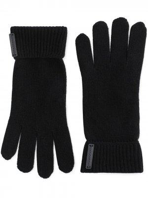 Перчатки с нашивкой-логотипом Dolce & Gabbana. Цвет: черный