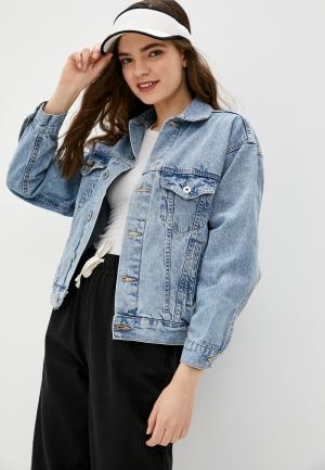 Куртка джинсовая Cotton On. Цвет: голубой