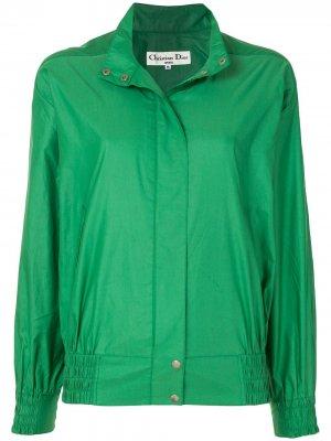 Спортивная куртка с логотипом Christian Dior. Цвет: зеленый