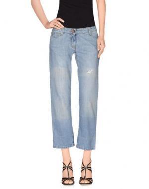 Джинсовые брюки-капри COMPAGNIA ITALIANA. Цвет: синий