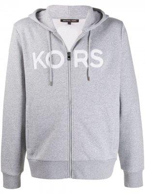Худи с логотипом Michael Kors. Цвет: серый