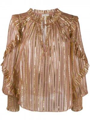 Блузка Lucinda в полоску Ulla Johnson. Цвет: розовый