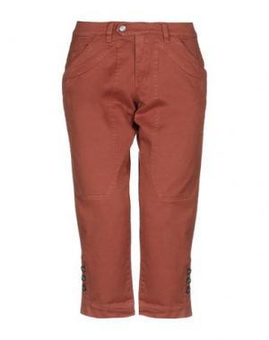 Джинсовые брюки-капри JECKERSON. Цвет: желто-коричневый