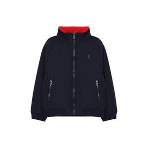 Хлопковая куртка Polo Ralph Lauren. Цвет: синий