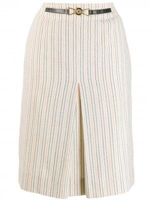 Юбка миди со складками спереди Céline Pre-Owned. Цвет: нейтральные цвета