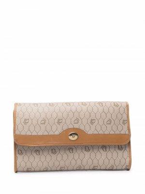 Клатч Honeycomb 1980-х годов Christian Dior. Цвет: коричневый