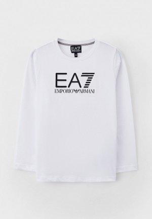 Лонгслив EA7. Цвет: белый