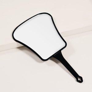 Зеркало для макияжа в форме веера SHEIN. Цвет: чёрный