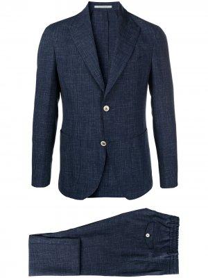 Однобортный пиджак строгого кроя Eleventy. Цвет: синий