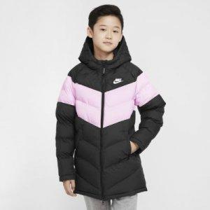 Удлиненная куртка с синтетическим наполнителем для школьников Sportswear - Черный Nike