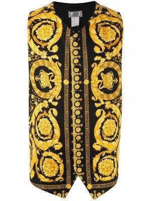 Жилет с принтом Baroque Versace Pre-Owned. Цвет: черный