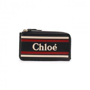 Кожаный футляр для кредитных карт Vick Chloé. Цвет: синий