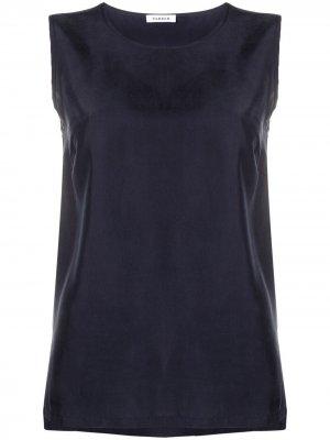 Silk sleeveless tank top P.A.R.O.S.H.. Цвет: синий