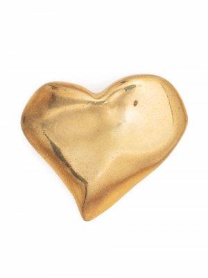 Брошь 1980-х годов в форме сердца Christian Lacroix Pre-Owned. Цвет: золотистый