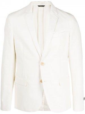 Однобортный пиджак Fendi. Цвет: белый