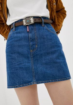 Юбка джинсовая Dsquared2. Цвет: синий