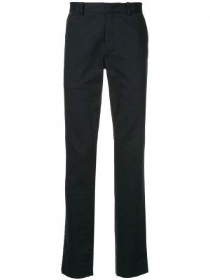 Классические брюки с высокой посадкой CK Calvin Klein. Цвет: синий