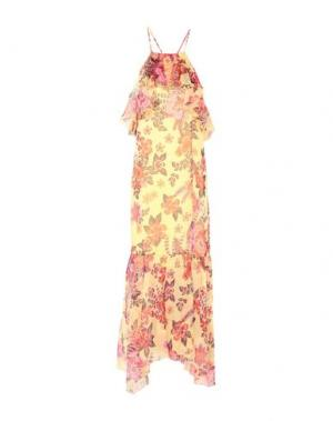 Платье длиной 3/4 ATOS LOMBARDINI. Цвет: желтый