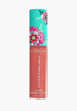 Блеск для губ LOreal Paris L'Oreal Lip Dewоттенок. Цвет: розовый