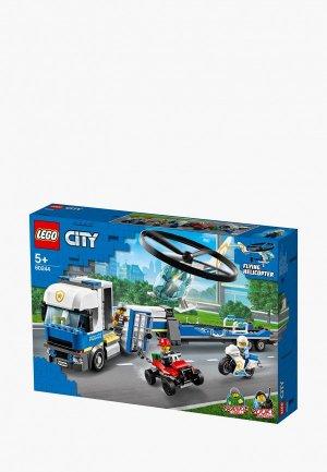 Конструктор LEGO City 60244 Полицейский вертолётный транспорт. Цвет: разноцветный