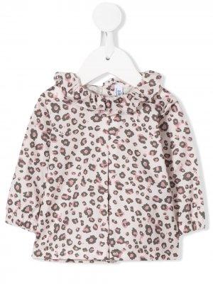 Блузка с леопардовым принтом Aletta. Цвет: серый
