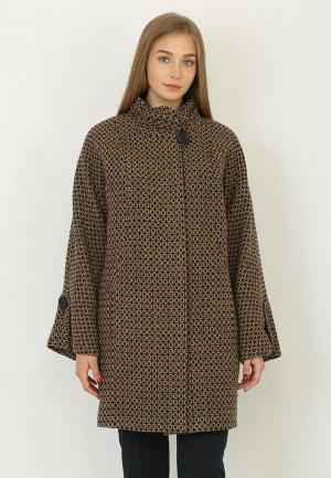 Пальто Trifo. Цвет: коричневый