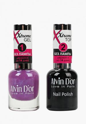 Набор гель-лаков Alvin Dor D'or Гель Xtreme extreme (Лак+Top) 2х15мл.5212 тон MIX 12. Цвет: прозрачный