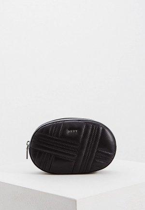 Сумка поясная DKNY ALLEN -BELTBAG - WEBBING CROSSGRID. Цвет: черный