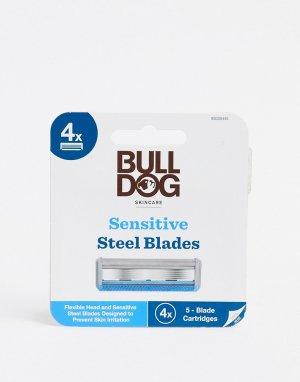 Набор из 4 картриджей для бритвы чувствительной кожи -Бесцветный Bulldog