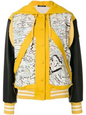 Куртка-бомбер с капюшоном Maison Margiela. Цвет: жёлтый и оранжевый