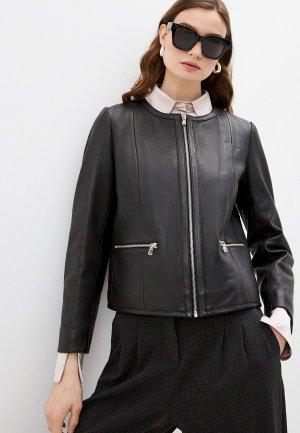 Куртка кожаная Pablo. Цвет: черный