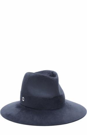Фетровая шляпа Lulu Loro Piana. Цвет: синий
