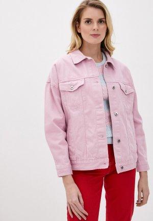 Куртка джинсовая Befree. Цвет: розовый