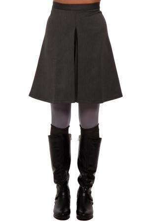 Юбка Gloss. Цвет: темно-серый, черный