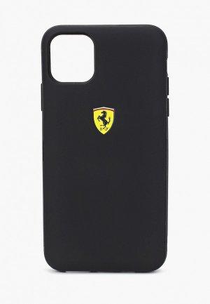 Чехол для iPhone Ferrari 11 Pro Max, On-Track cardslot magnetic PC/TPU Black. Цвет: черный