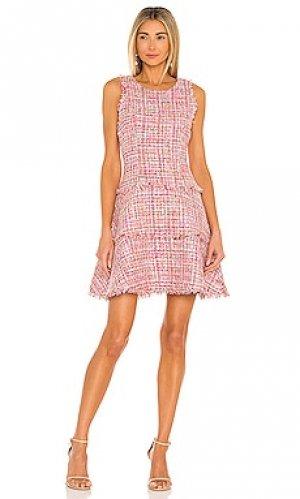 Мини платье tweed LIKELY. Цвет: розовый