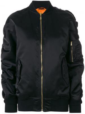 Классическая куртка-бомбер Balenciaga. Цвет: черный