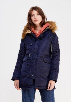 Куртка утепленная Alpha Industries N3B. Цвет: синий