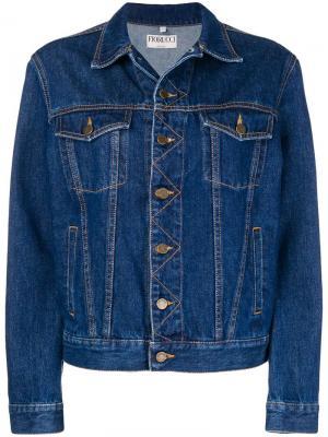 Джинсовая куртка с логотипом Fiorucci. Цвет: синий