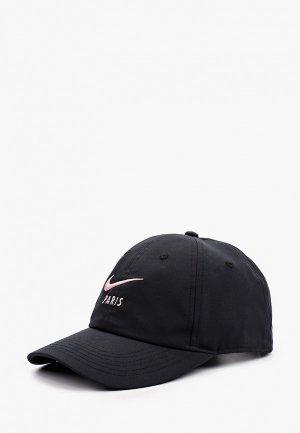 Бейсболка Nike PSG Y NK DF H86 CAP. Цвет: черный