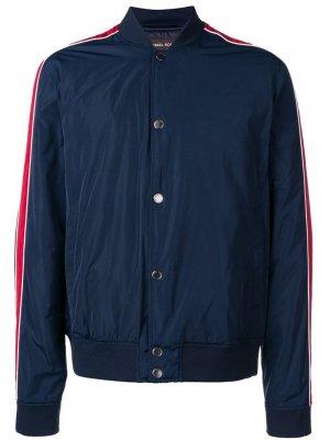 Куртка-бомбер с отделкой в полоску Michael Kors. Цвет: синий