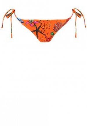 Плавки VERSACE. Цвет: оранжевый