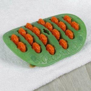 Массажёр для ног, с шипами, цвет зелёный/оранжевый ONLITOP