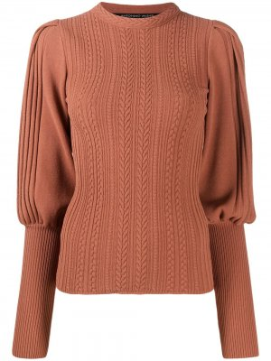 Джемпер крупной вязки с объемными плечами Antonino Valenti. Цвет: коричневый