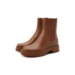 Кожаные ботинки Gianvito Rossi. Цвет: коричневый