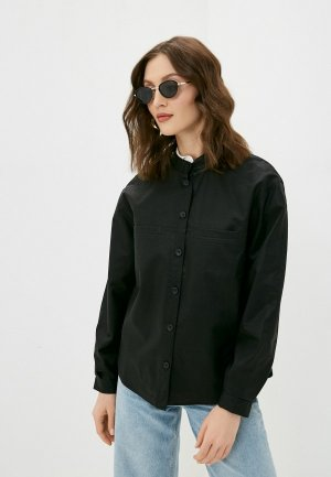 Куртка кожаная Baon. Цвет: черный